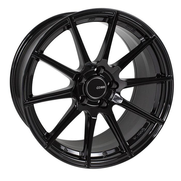 "Enkei TS-10 5x112 18x8.0"" +45mm Offset Gloss Black Wheels"