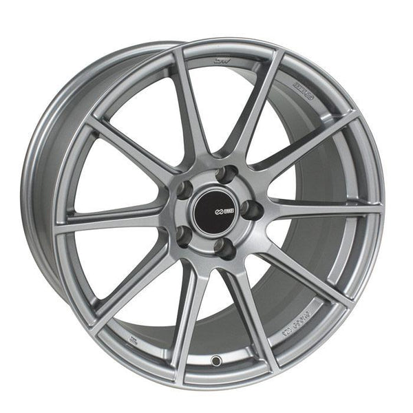 "Enkei TS-10 5x112 18x8.0"" +45mm Offset Storm Gray Wheels"