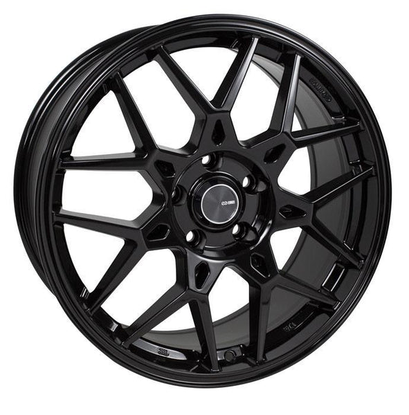 "Enkei PDC 5x112 18x8.0"" +45mm Offset Gloss Black Wheels"