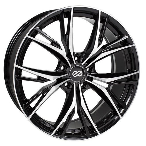 "Enkei ONX 5x114.3 18x8.0"" +40mm Offset Black Machined Wheels"