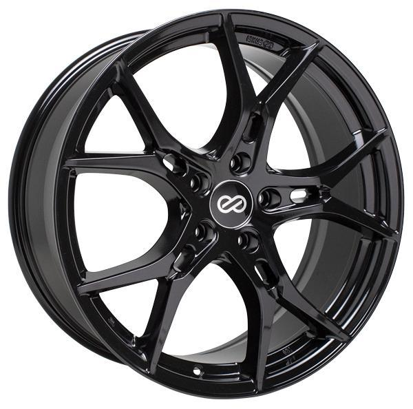 "Enkei Vulcan 5x100 17x7.5"" +45mm Offset Gloss Black Wheels"