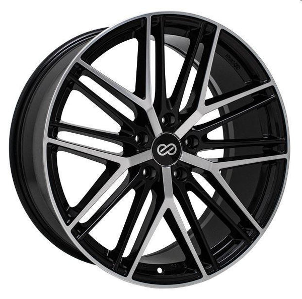 "Enkei Phantom 5x114.3 18x8.0"" +40mm Offset Black Machined Wheels"