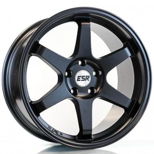 "ESR SR07 5x114.3 18"" Matte Black Wheels"