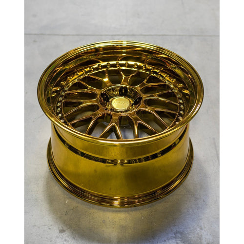"ESR SR01 5x100 18"" Vacuum Gold Chrome Wheels"