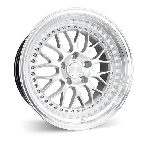 "ESR SR01 5x100 18"" Hyper Silver Machine Lip Wheels"