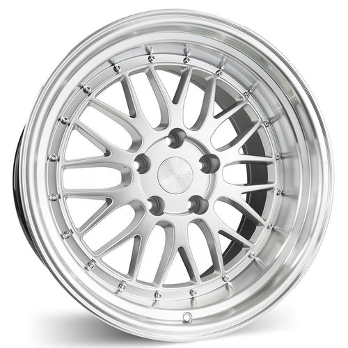 "ESR SR05 5x114.3 19"" Hyper Silver Machine Lip Wheels"