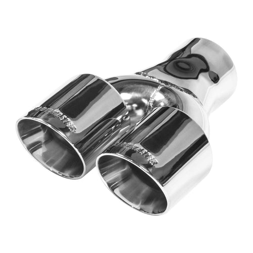 "Flowmaster Dual Exit Polished 3.00"" Weld-On Exhaust Tip (15402)"