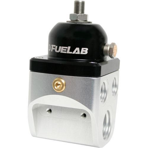 Fuelab 585 Series 4-Port Blocking Style Fuel Pressure Regulator - 10AN In/ 6AN Out (58501)