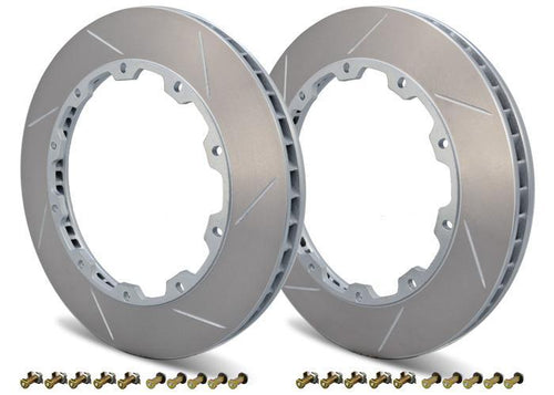 Girodisc 2pc Rear Rotor Ring Replacements | 2008-2015 Mitsubishi Evo X (D2-047)
