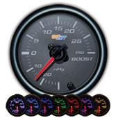 GlowShift Black 7 Color 30 PSI Boost / Vacuum Gauge - Modern Automotive Performance