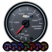 GlowShift Black 7 Color Water Temperature Gauge - Modern Automotive Performance
