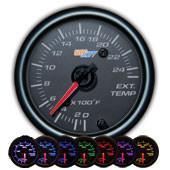 GlowShift Black 7 Color 2400°F Exhaust Gas Temperature Gauge