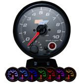 GlowShift Black 7 Color 3-3/4in Tachometer w/ Shift Light - Modern Automotive Performance