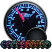 GlowShift Elite 10 Color Volt Gauge - Modern Automotive Performance