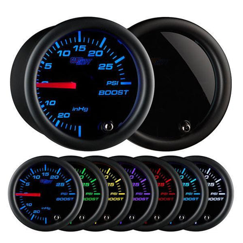 GlowShift Tinted 7 Color 30PSI Boost/Vacuum Gauge (GS-T701)