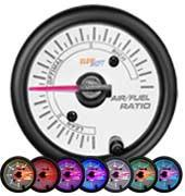 GlowShift White 7 Color Needle Air / Fuel Ratio Gauge - Modern Automotive Performance