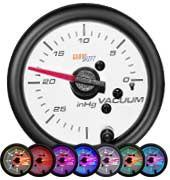 GlowShift White 7 Color Vacuum Gauge - Modern Automotive Performance