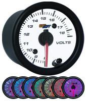 GlowShift White 7 Color Volt Gauge - Modern Automotive Performance