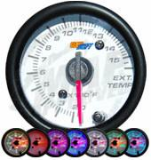 GlowShift White 7 Color 1500°F Exhaust Gas Temperature Gauge - Modern Automotive Performance