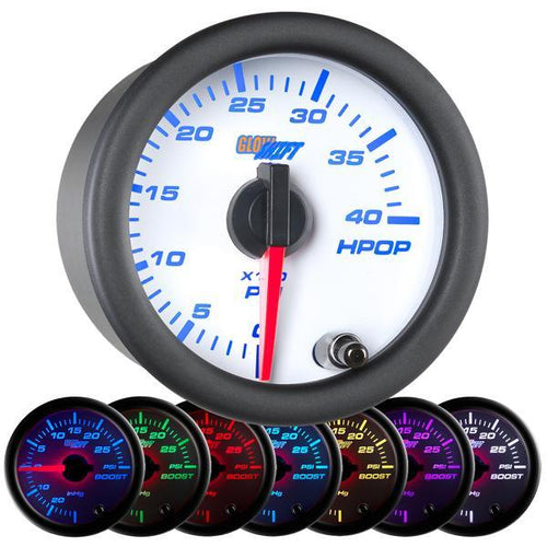 GlowShift White Face 7 Color High Pressure Oil Pressure Gauge (GS-W721)