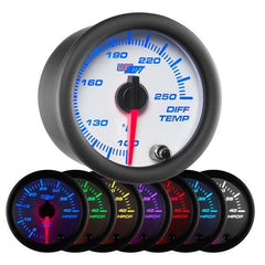 GlowShift White 7-Color Differential Temperature Gauge 100-250° F (GS-W722)