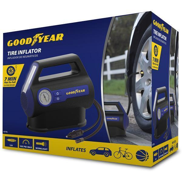 Goodyear Analog Tire Inflator - 7 Minutes Flat to Full (GY7A)
