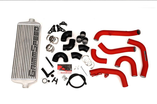 GrimmSpeed Front Mount Intercooler System Kit w/ Red Piping | 2015-2020 Subaru STI (090236)