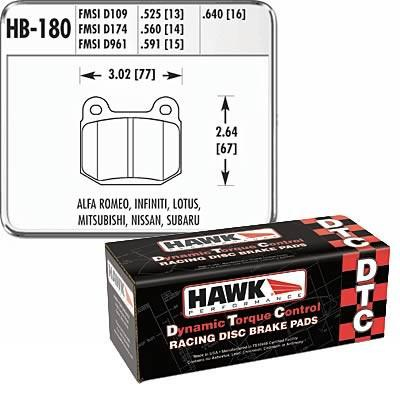 Hawk Performance DTC 70 Brake Pads | Multiple Fitments (HB180U.560)