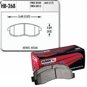 Hawk Performance HP Plus Brake Pads | Multiple Fitments (HB268N.665)