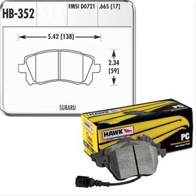 Hawk Performance Ceramic Brake Pads | Multiple Fitments (HB352Z.665)