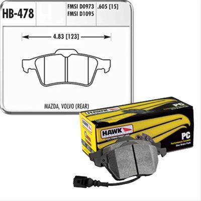 Hawk Performance Ceramic Brake Pads | Multiple Fitments (HB478Z.605)