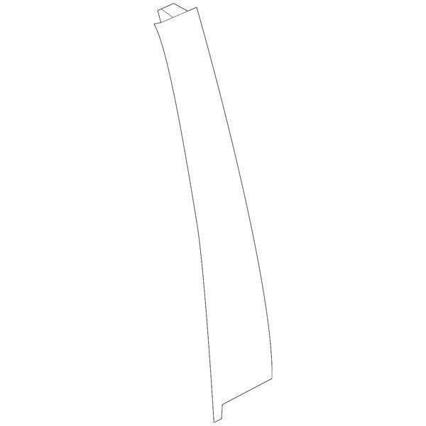Honda OEM Rear Door Window Side Garnish - Passenger Side | 17-19 Honda Civic Hatch (72930-TED-T01)