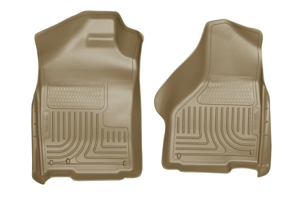 2003-2012 Dodge Ram 1500/2500/3500 Series Regular/Quad Cab WeatherBeater Tan Floor Liners by Husky Liners (18033) - Modern Automotive Performance