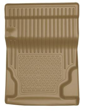 2010-2013 GM Escalade/Tahoe/Yukon WeatherBeater Tan Walkway Floor Liner (2nd Row Bucket) by Husky Liners (81253) - Modern Automotive Performance