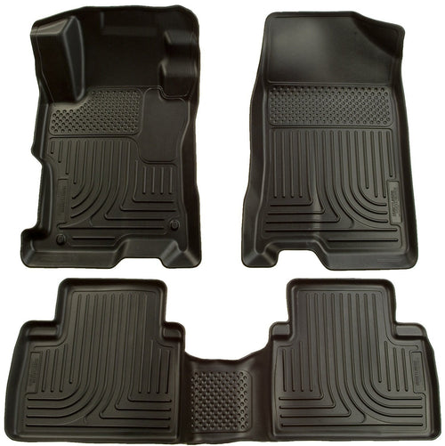 2006-2011 Honda Civic (4DR) WeatherBeater Combo Black Floor Liners by Husky Liners (98411) - Modern Automotive Performance