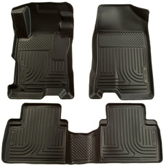 2006-2011 Honda Civic (4DR) WeatherBeater Combo Black Floor Liners by Husky Liners (98411)
