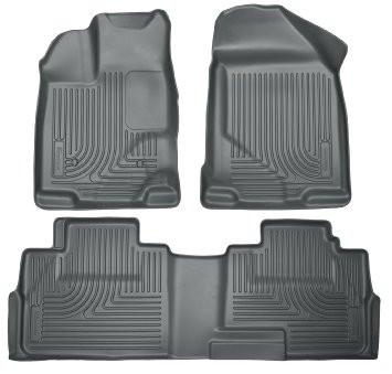 2014 Hyundai Tucson w/Retain Hooks WeatherBeater Combo Front & 2nd Row Black Floor Liners by Husky Liners (99831) - Modern Automotive Performance