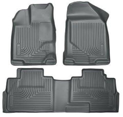 2014 Hyundai Tucson w/Retain Hooks WeatherBeater Combo Front & 2nd Row Black Floor Liners by Husky Liners (99831)
