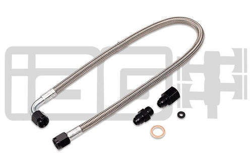 IAG High Pressure Braided Power Steering Line (Rotated Turbo Routing) | 2002-2007 Subaru WRX / 2004-2007 STi (IAG-ENG-5901)