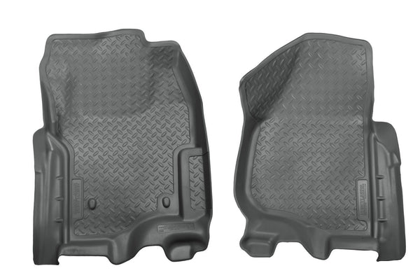 2011-2012 Ford F-Series SuperDuty Super/Super Crew Cab Classic Style Gray Floor Liners by Husky Liners (33892) - Modern Automotive Performance