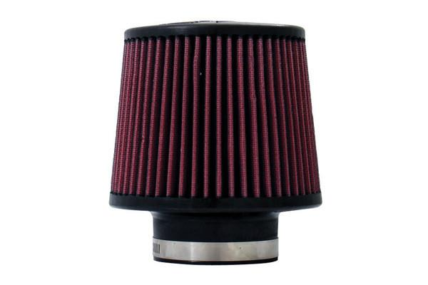 Universal High Performance Air Filter - 3.00 Black Filter 6 Base / 5 Tall / 4 Top - 45 Pleat by Injen (X-1017-BR) - Modern Automotive Performance