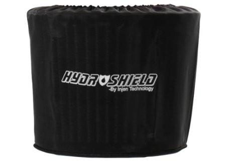 "Universal Black Oval Water Repellant Pre-Filter 8.5""x9"" Base / 7"" Tall / 4""x8"" Top by Injen (X-1039BLK) - Modern Automotive Performance"