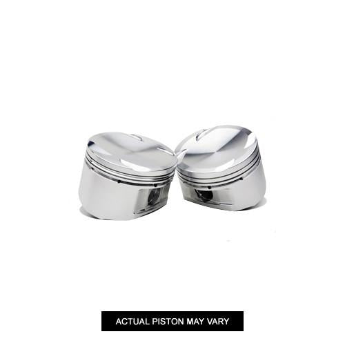JE Shelf Pistons w/pins, rings and locks (Mitsubishi 4G63T - Evo VIII/IX, 85.0mm Bore, 8.5:1) - Modern Automotive Performance