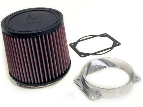 "K&N 4.5"" Rubber Filter with Vibrant MAF Adapter 