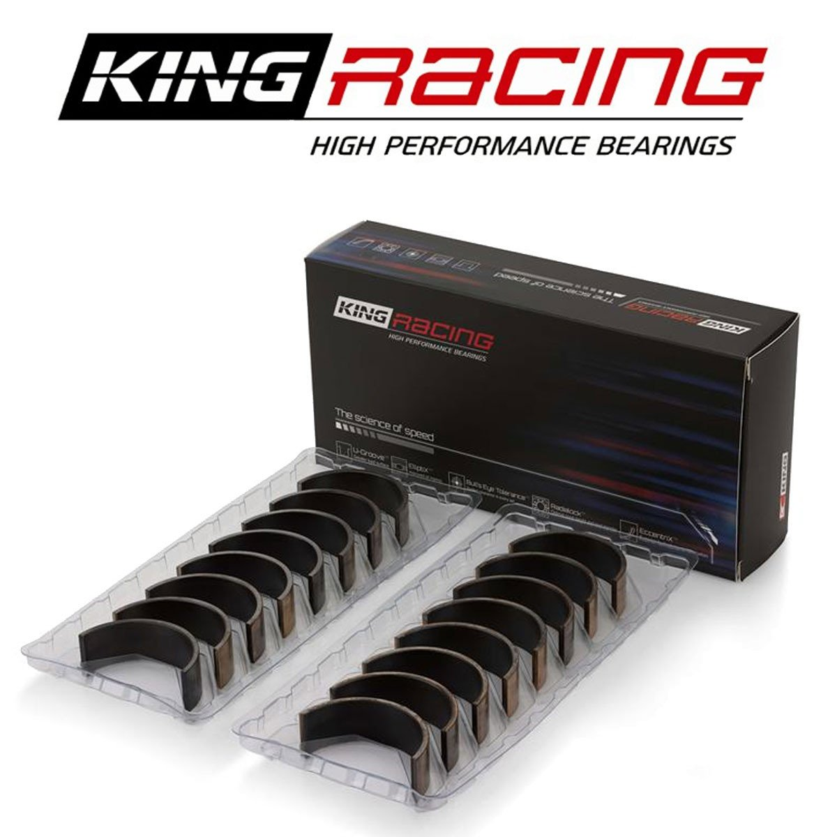 Standard Racing Rod Bearings Set for Toyota 4AGE 4AGZE 1 6L by King Engine  Bearings