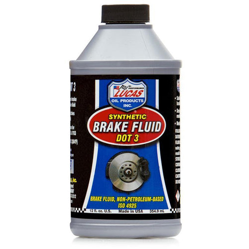 Lucas Oil Synthetic Brake Fluid DOT 3 - 12 fl oz (10825)