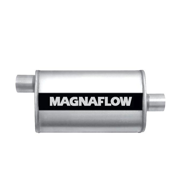"Universal Stainless Steel Oval Exhaust Muffler Mag SS 2.25"" by MagnaFlow"