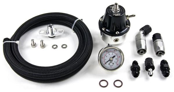 MAP Evo 8/9 AFPR Install Kit with Black Turbosmart Regulator (EVO-AFPR-TS-PL-BLK) - Modern Automotive Performance