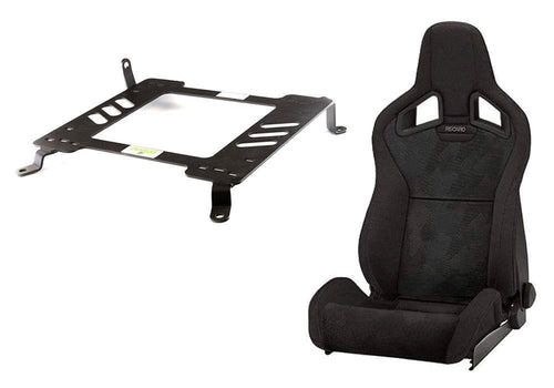 Recaro Cross Sportster CS Heated Seats + Planted Mounting Hardware Combo | 2008-2015 Mitsubishi Evo X