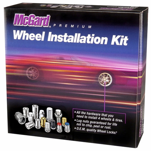 McGard Cone Seat Exposed Style Wheel Installation Kit / Black (84640)
